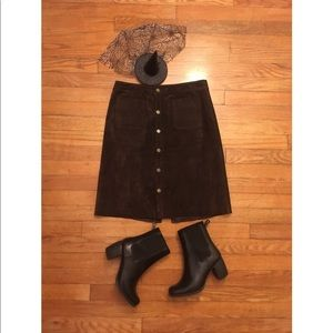 Timeless genuine SUEDE mini SKIRT
